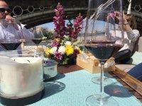 Wines in the boat of Guadalquivir