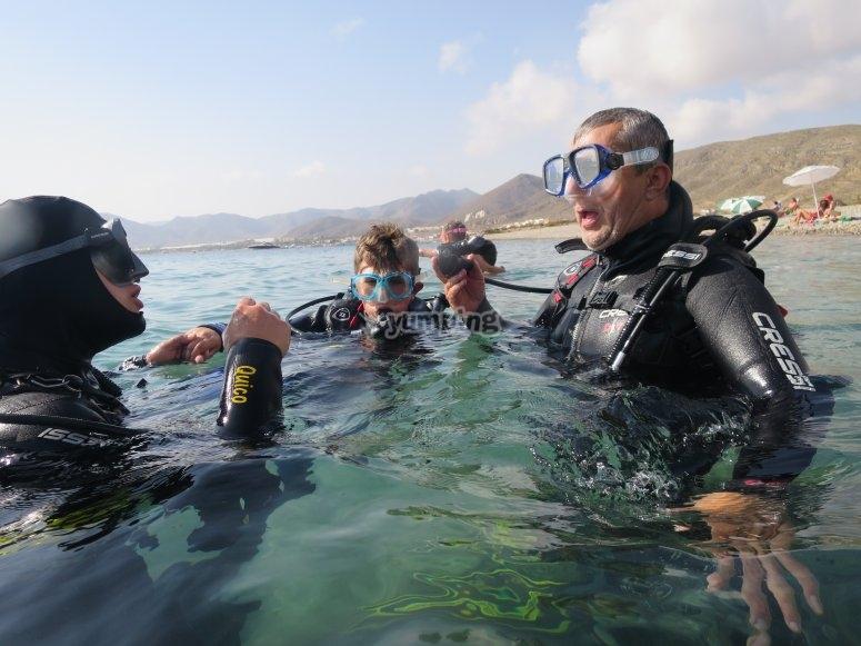 在开始潜水活动之前