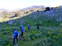 的Sierra de Grazalema格拉萨莱马徒步旅行的性质