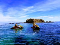 Visiting Tabarca island by jet ski
