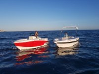 Boats without a license at sea