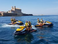 In Isla Tabarca with jet skis