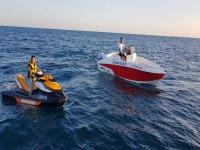 Jet ski and motorboat