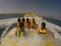Getting wet in the jet boat