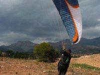 aterrizaje con el parapente