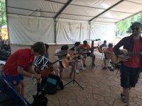 Ensayos de guitarra campamento Aljucen