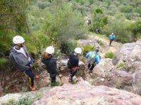 Group in the ferrata of Morante