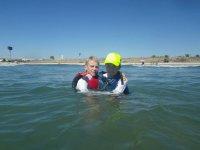 ejercicios de flotacion antes de subir al kayak