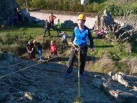 Rappelling in the multi-adventure day