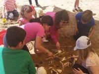 Arqueologia en el campamento de Ciudad Real