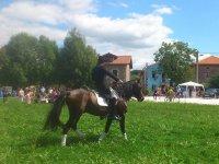 Jinete en evento a caballo