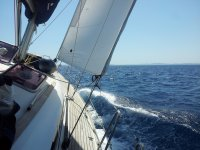 Sailing boat trip from Badalona Port, 3h