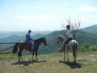 骑马令人难以置信的景观