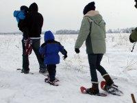 Racchette da neve con i bambini