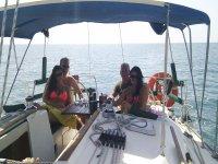 En el velero por parejas