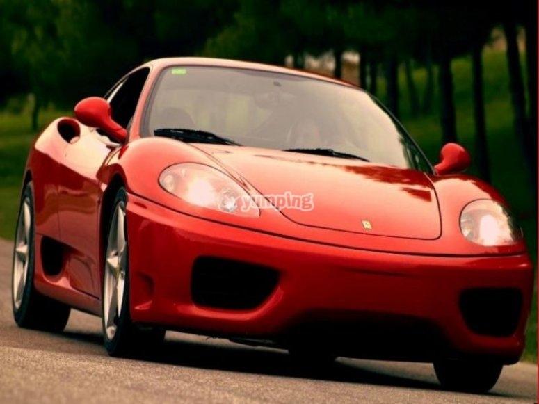 Ferrari on the road