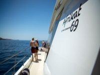 Pasillo del catamaran canario
