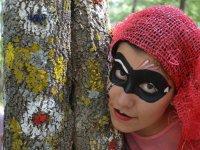 Alumna con mascara campamento Salamanca