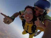 Salto tándem en paracaídas Sevilla vídeo y fotos