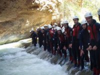 Prepared for a day of canyoning