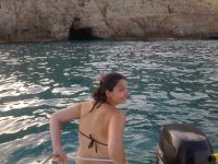 Dispuesta a saltar al agua