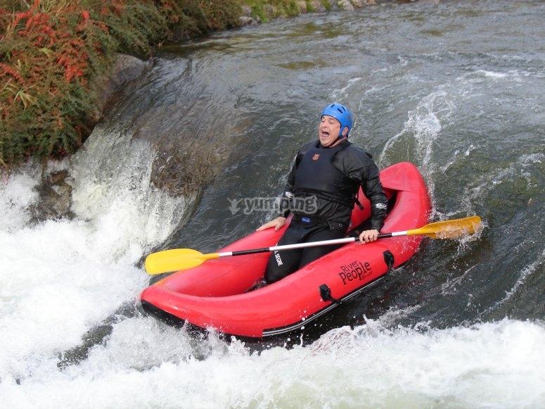 Individual open-kayak