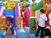 A fun inflatable of the jungle