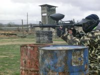 Scenario of paintball with several obstacles