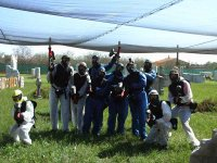 Equipo de paintball al completo
