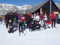 Grupo de esquí en Formigal