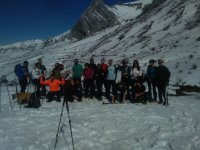 Group of snowshoes in Leon
