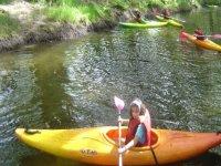 皮划艇课程。