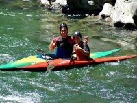 Duo of kayaks