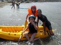 测试皮划艇