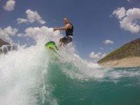 Acrobatics with wakesurf board