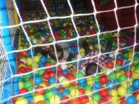 Piscina de bolas con tobogan