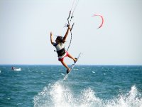 Salto de kitesurf Costa de la Luz