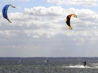 Haciendo kite en la Costa de la Luz