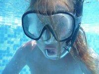 显示器和学生洗礼级的潜水