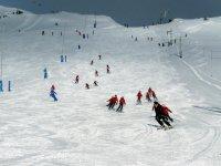 在滑雪者轨道
