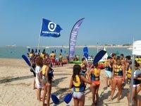 Grupo kayakistas Costa de la Luz