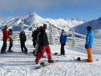 snowboarding in Candanchu