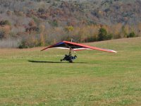 Landing the hang-glider with a passenger