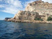 阿尔梅里亚沿岸的船