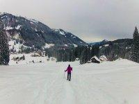 En raquetas de nieve