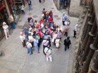 Durante la visita en Segovia