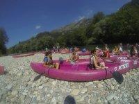 Kayaks on the Deva