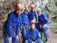 Speleologists before entering the cave