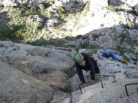 Crossing the ferrata with friends