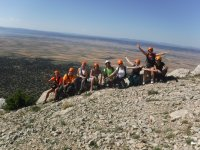 Group on the top of the via ferrata